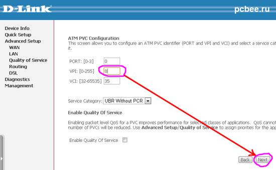 Настройка модема ADSL