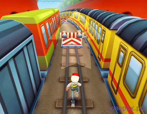 Управление в игре Subway Surfers