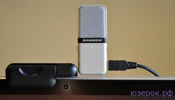 USB микрофон с прищепкой