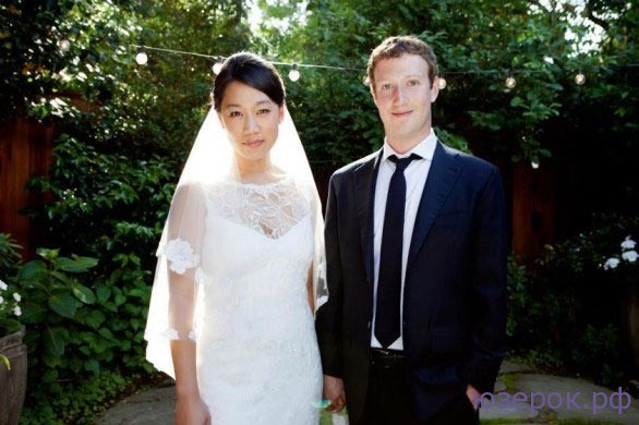 Свадебная фотография: Марк Цукерберг с женой Присциллой