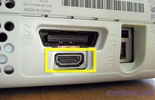 Подсоединяем один конец кабеля HDMI к телевизору