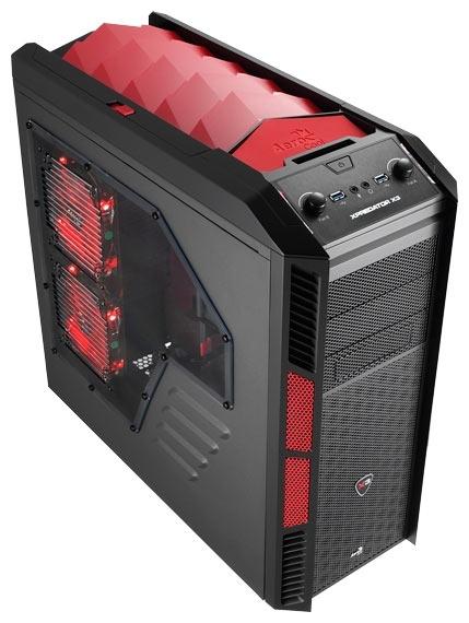 Чёрно-красный корпус для компьютера AeroCool