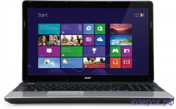 Вид ноутбука Acer ASPIRE E1-571G в фас
