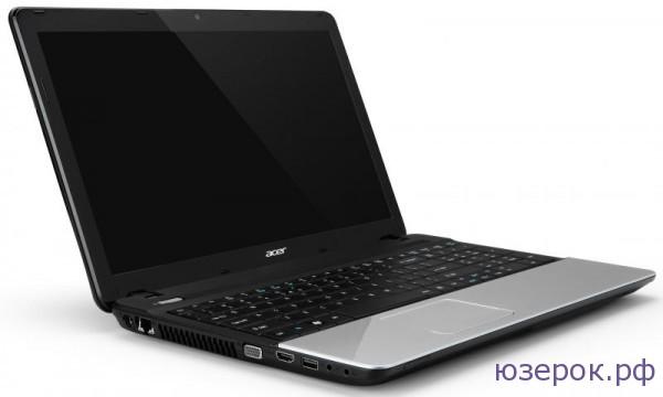 Вид ноутбука Acer ASPIRE E1-571G с боку