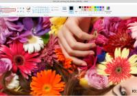 как уменьшить рисунок в paint