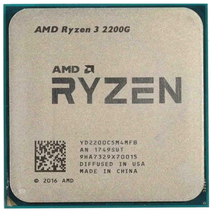 Процессор AMD Ryzen 3 2200G Raven Ridge (AM4, L3 4096Kb) с интегрированным графическим ядром Vega 8