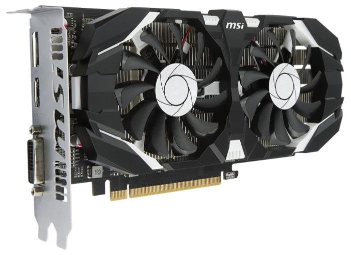 Видеокарта MSI GeForce GTX 1050 1404MHz PCI-E 3.0 2048MB. Цена около 10 тыс. рублей