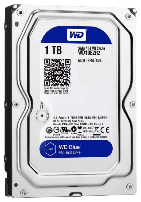 Жесткий диск Western Digital WD Blue Desktop 1 TB (WD10EZRZ) со скоростью вращения 5400 rpm