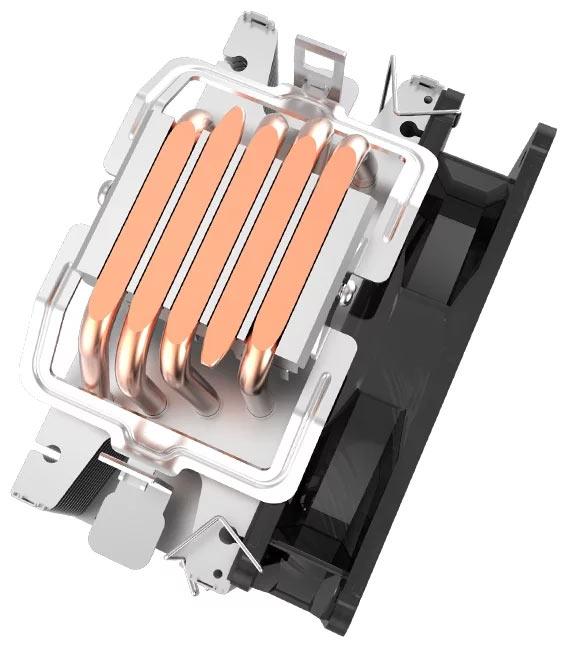 Пять тепловых трубок PCcooler GI-X5B обеспечат эффективное охлаждение не только в штатном режиме, но и в режиме разгона